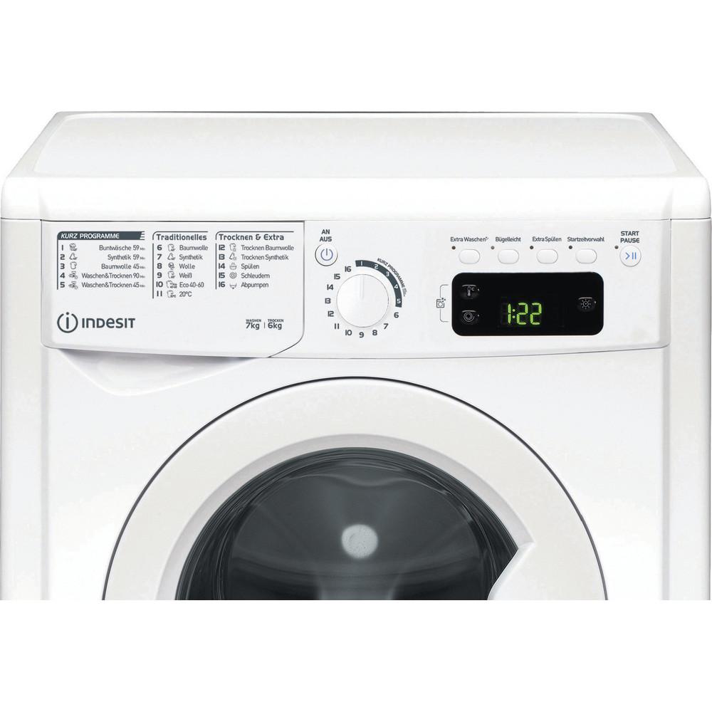 Indesit Waschtrockner Freistehend EWDE 761483 W DE N Weiß Frontlader Control panel