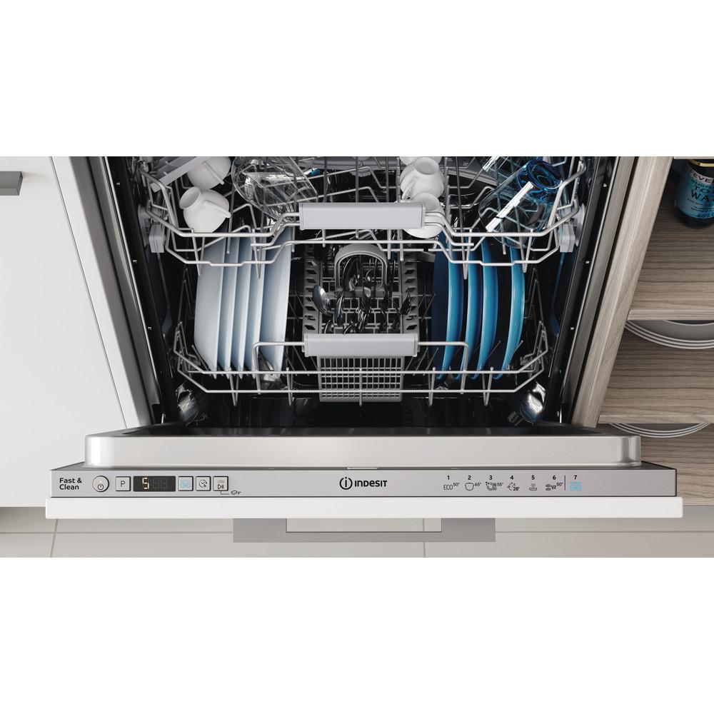 Indesit Посудомоечная машина Встраиваемый DIC 3B+16 AC S Full-integrated A Lifestyle control panel