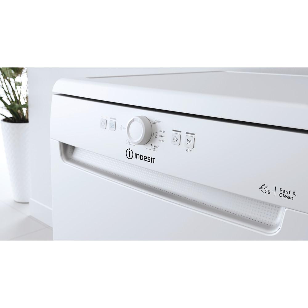 Indesit Myčka nádobí Volně stojící DFE 1B19 13 Volně stojící F Lifestyle control panel