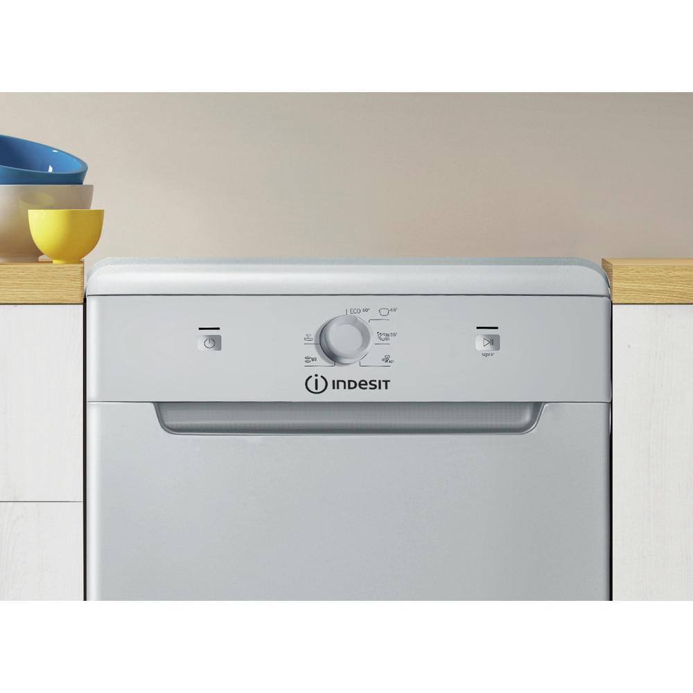 Indesit Посудомоечная машина Отдельно стоящий DSCFE 1B10 S RU Отдельно стоящий A+ Lifestyle control panel