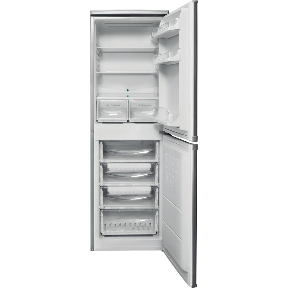 Indesit Комбиниран хладилник с камера Свободностоящи CAA 55 NX Инокс 2 врати Frontal open