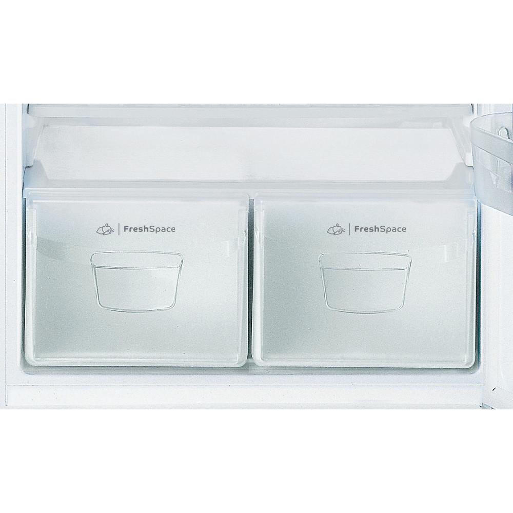 Indesit Combiné réfrigérateur congélateur Pose-libre TAA 5 V 1 Blanc 2 portes Drawer