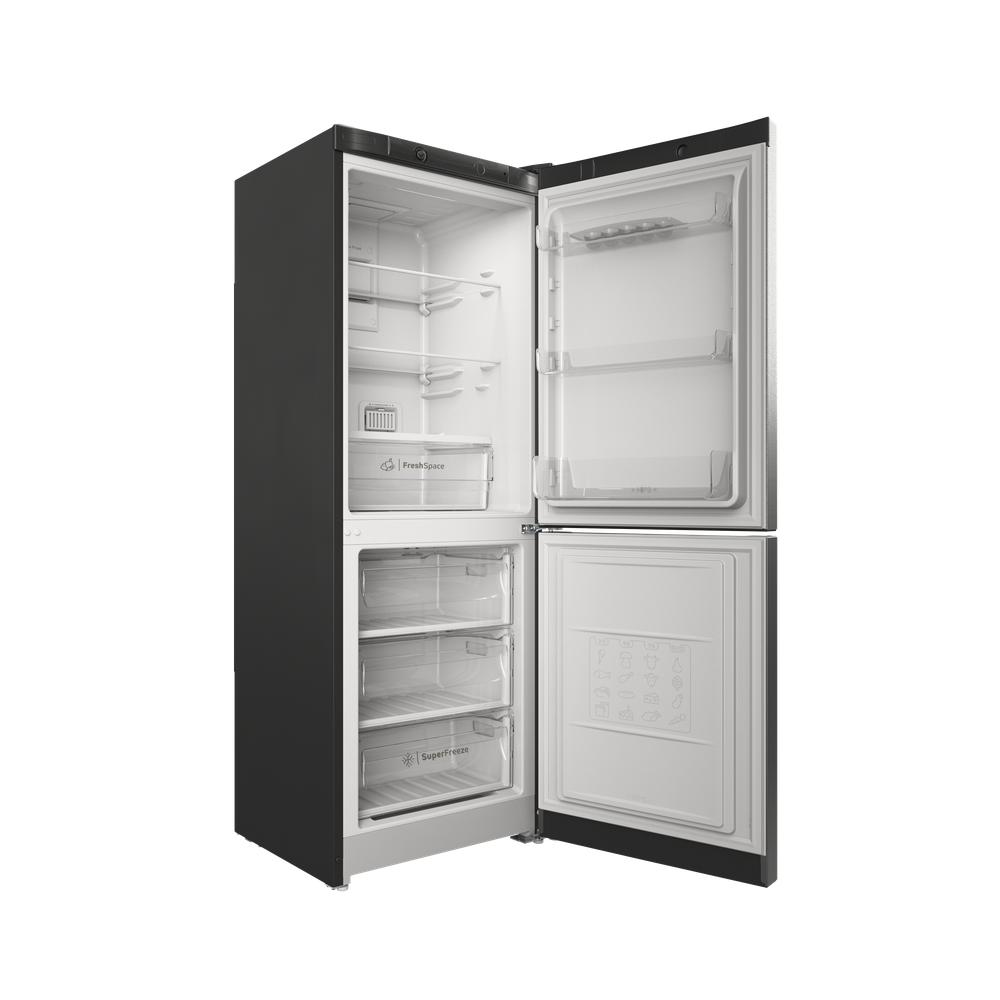 Indesit Холодильник с морозильной камерой Отдельностоящий ITS 4160 S Серебристый 2 doors Perspective open