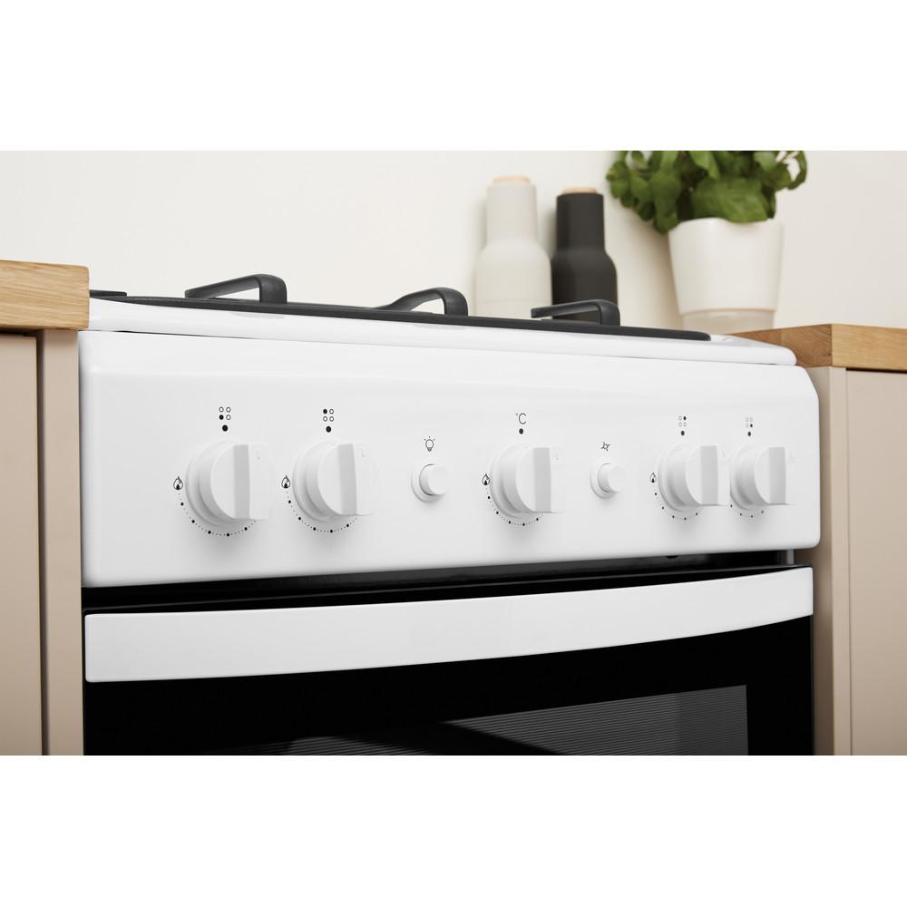 Indesit Плита IS5G0KMW/RU Белый Газовая Lifestyle control panel