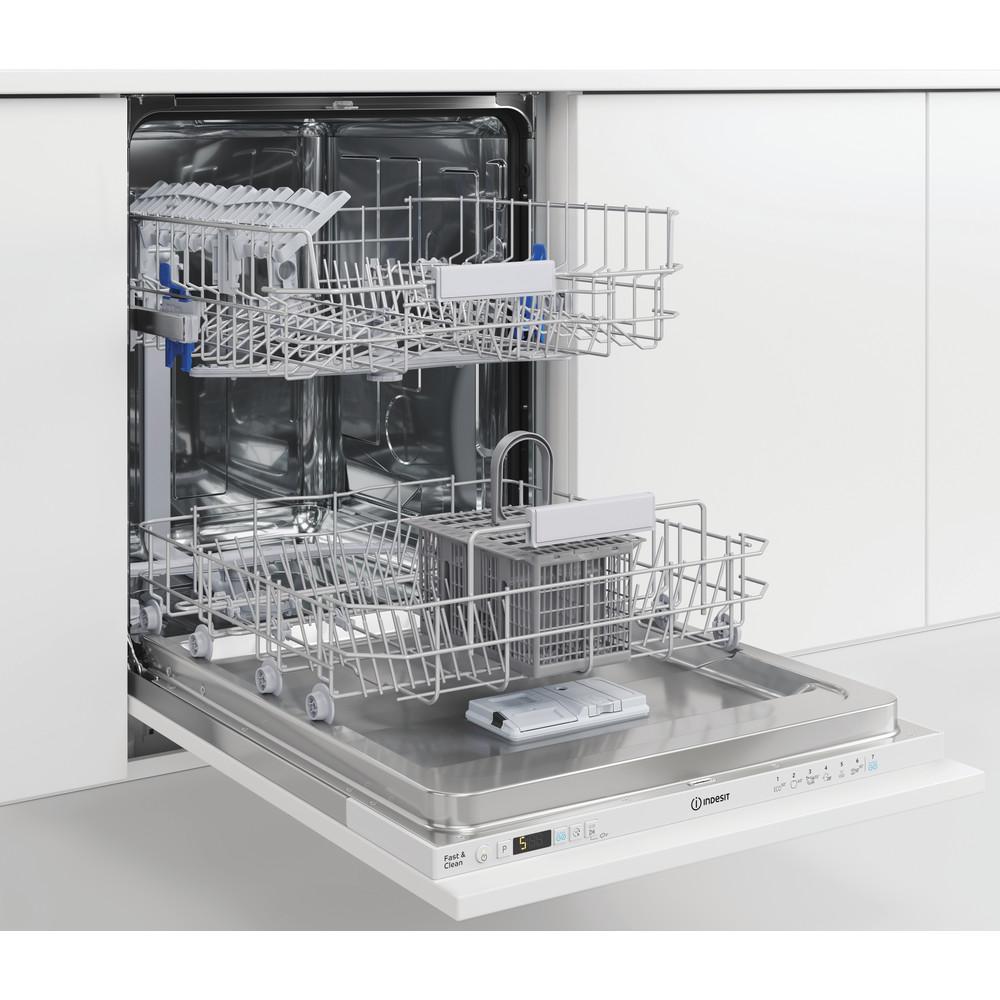 Indesit Lave-vaisselle Encastrable DIC 3B+16 A S Tout intégrable F Perspective open