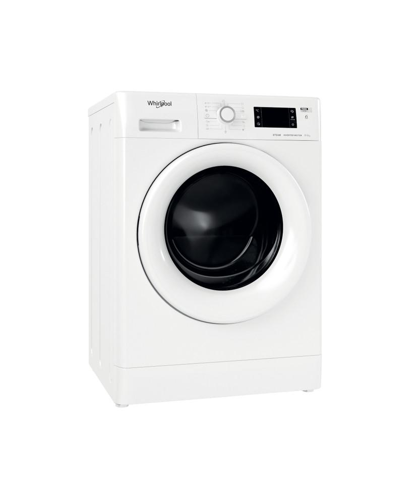 Whirlpool Kuivaava pesukone Vapaasti sijoitettava FWDG 861483E WV EU N Valkoinen Edestä täytettävä Perspective