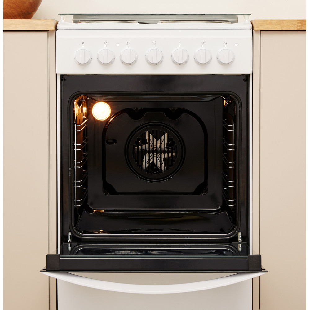 Indesit Готварска печка IS5E5PCW/E Бял Electrical Lifestyle frontal open