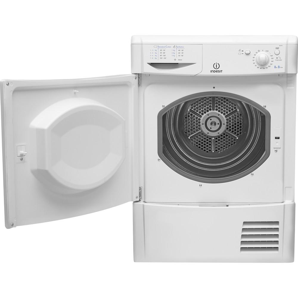 Indesit Dryer IDC 8T3 B (UK) White Frontal open