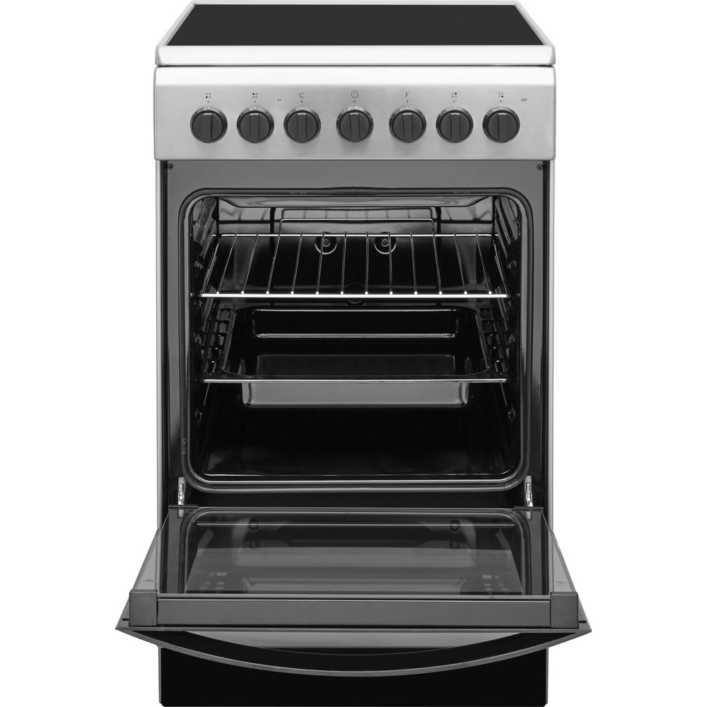 Indesit Плита IS5V4PHX/RU Inox Electrical Frontal open