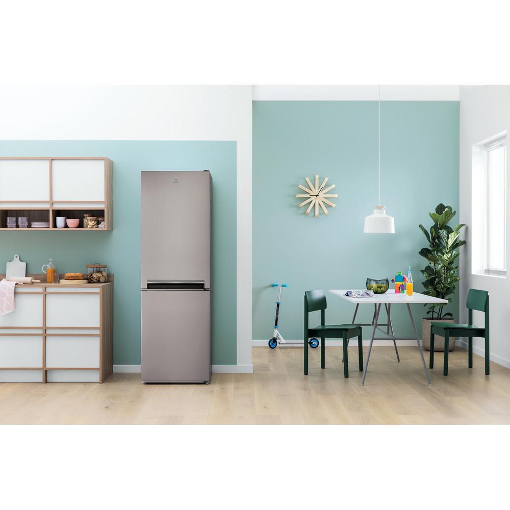 Indesit Холодильник з нижньою морозильною камерою. Соло LI7 S1 X Optic Inox 2 двері Lifestyle frontal