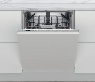 Whirlpool beépíthető mosogatógép: Inox szín, normál méretű - WCIO 3T341 PE