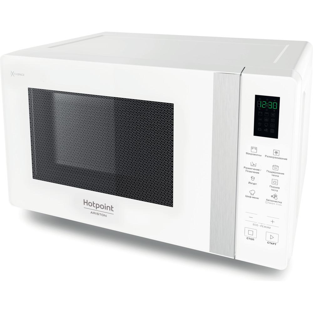 Hotpoint_Ariston Микроволновая печь Отдельностоящий MWHAF 201 W Белый Электронное 20 Микроволновая печь 800 Perspective