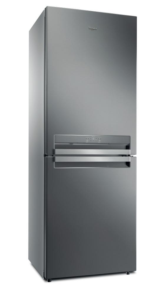 Whirlpool Combiné réfrigérateur congélateur Pose-libre B TNF 5322 OX Optic Inox 2 portes Perspective