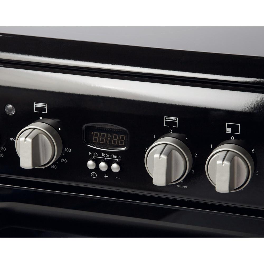 Indesit Double Cooker ID60C2(K) S Black B Vitroceramic Control_Panel
