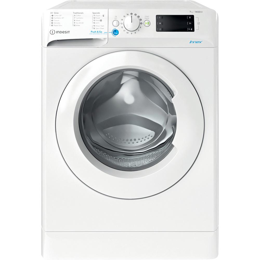 Indesit Washing machine Free-standing BWE 91683X W UK N White Front loader D Frontal