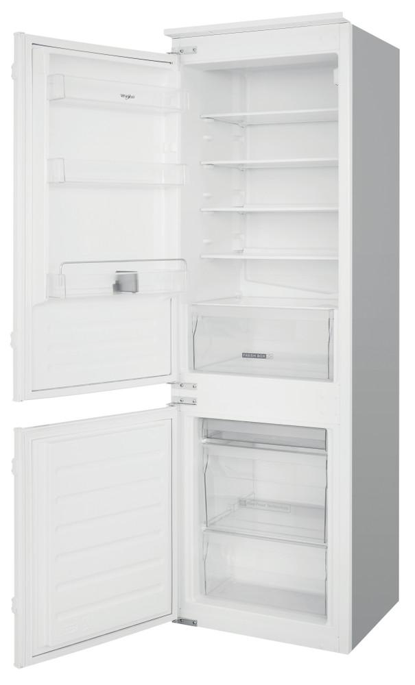 Whirlpool Fridge-Freezer Combination Built-in ART 6550 SF1 White 2 doors Perspective open