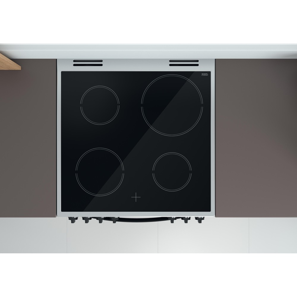 Indesit Double Cooker ID67V9HCX/UK Inox A Lifestyle frontal top down