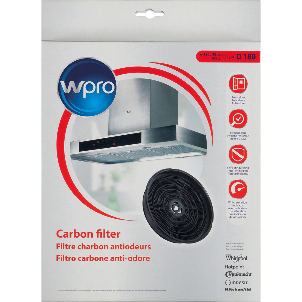 Carbon filter anti odour  Type D180
