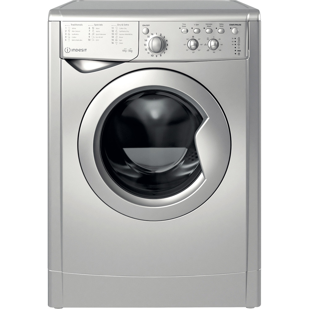 Indesit Washer dryer Free-standing IWDC 65125 S UK N Silver Front loader Frontal