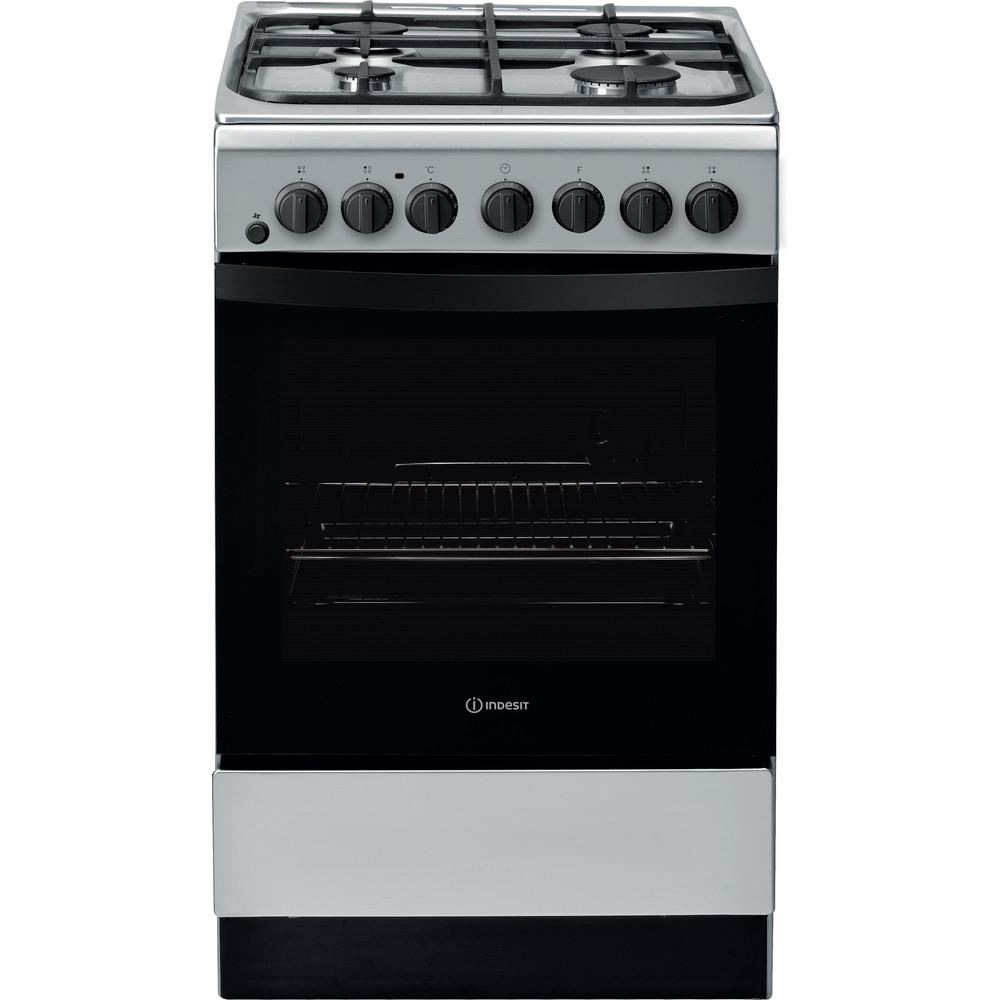 Indesit Cooker IS5G4PHSS/UK Inox GAS Frontal