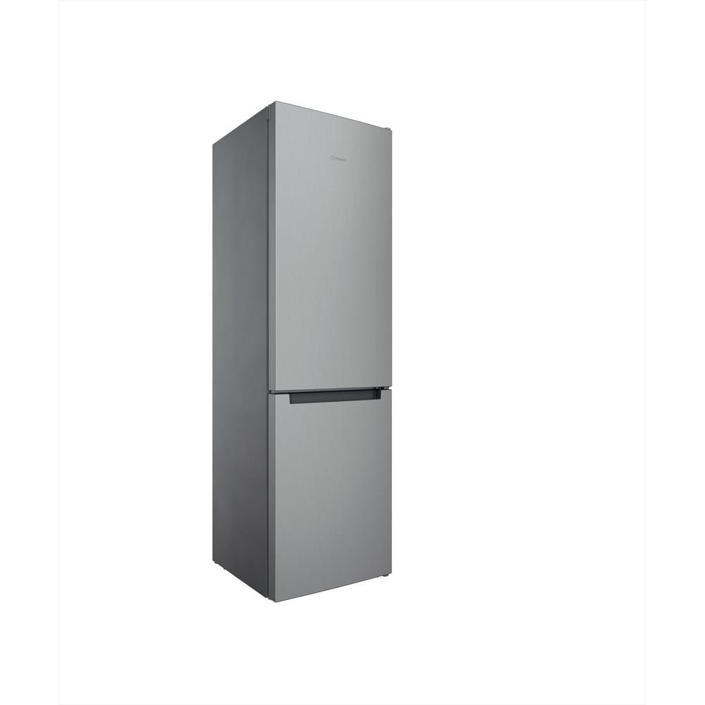 Indesit Combiné réfrigérateur congélateur Pose-libre INFC9 TI22X Inox 2 portes Perspective