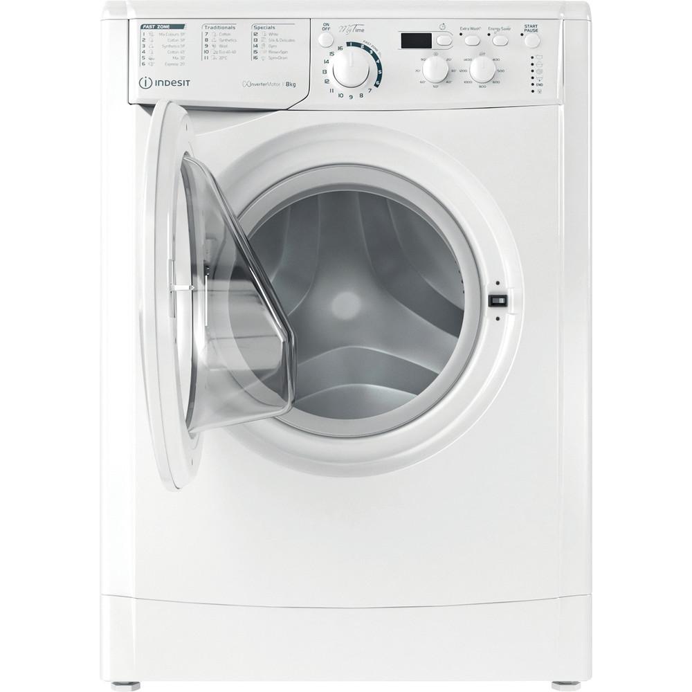 Indesit Washing machine Free-standing EWD 81483 W UK N White Front loader D Frontal open
