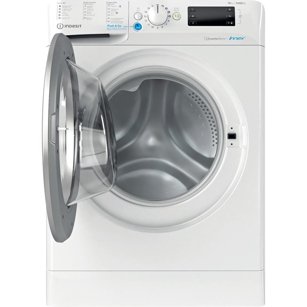Indesit Máquina de lavar roupa Livre Instalação BWE 101483X WS SPT N Branco Carga Frontal D Frontal open