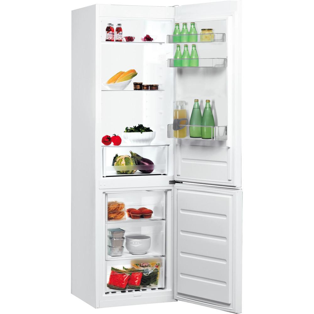 Indesit Комбиниран хладилник с камера Свободностоящи LI7 S1 W Бял 2 врати Perspective open