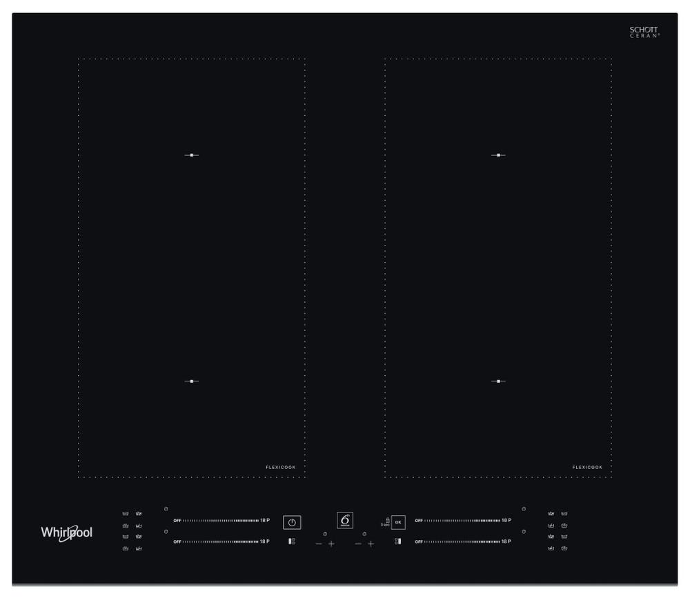 Whirlpool Kogeplade WL S3160 BF Sort Induction vitroceramic Frontal