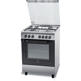 Indesit Cucina con forno a doppia cavità I6TMH2AF(X)/I Inox GAS Perspective