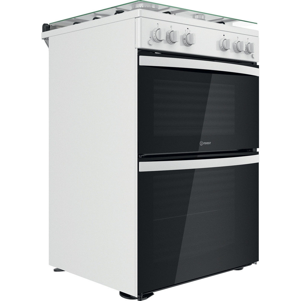 Indesit Double Cooker ID67G0MCW/UK White A+ Perspective