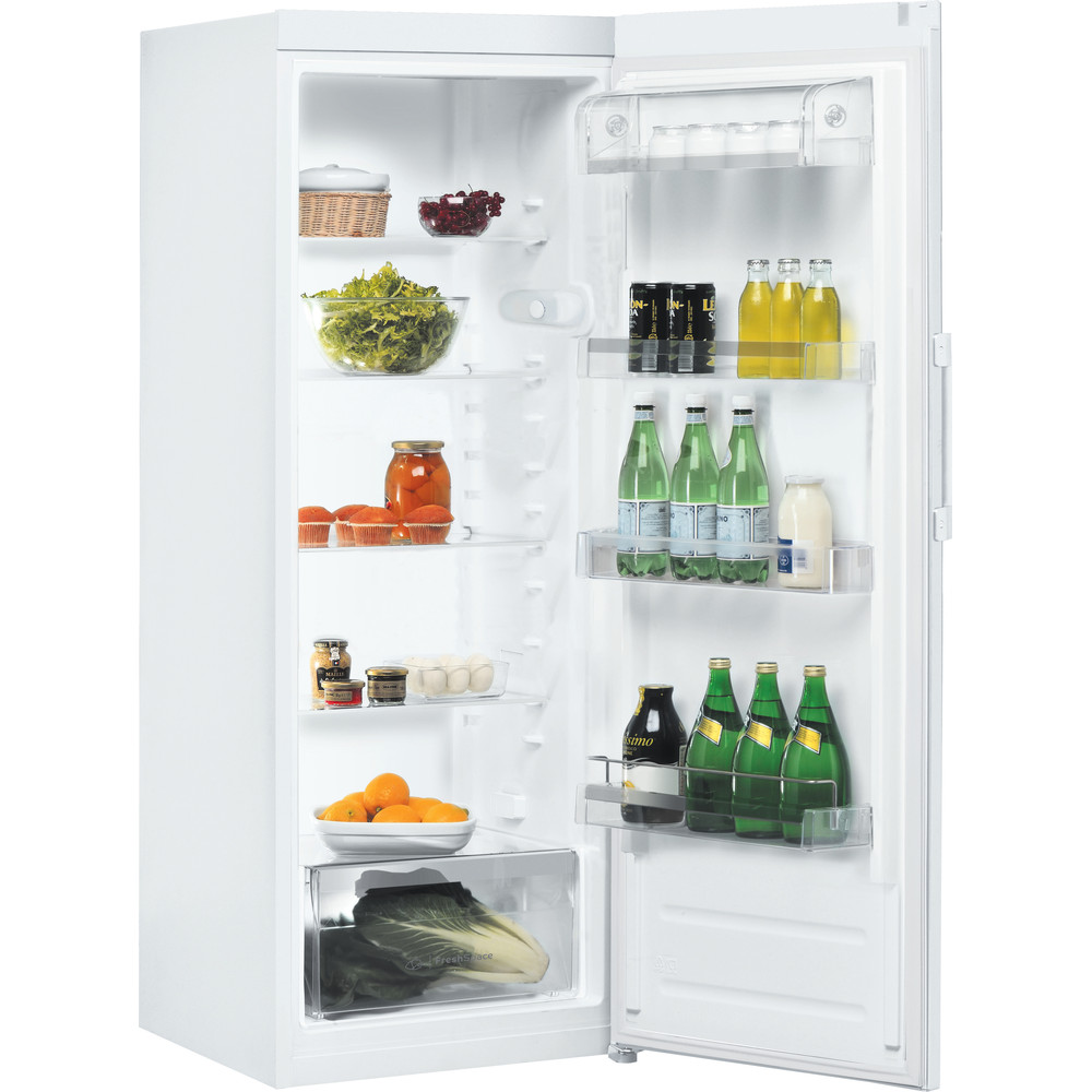 Indesit Refrigerator Free-standing SI6 1 W 1 Global white Perspective open