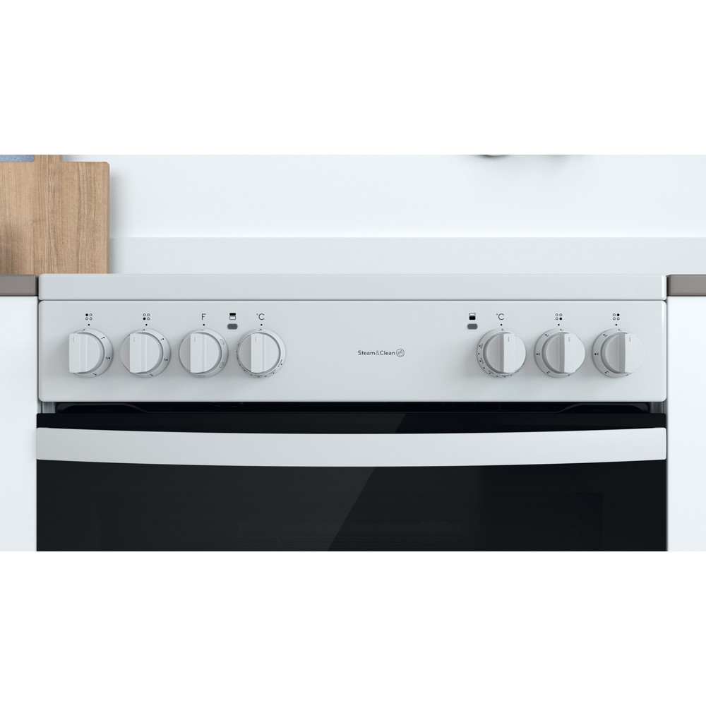 Indesit Double Cooker ID67V9KMW/UK White A Lifestyle control panel
