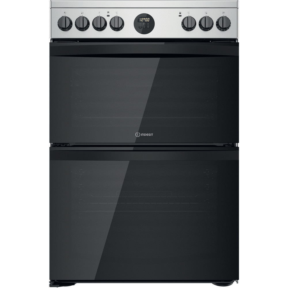 Indesit Double Cooker ID67V9HCX/UK Inox A Frontal