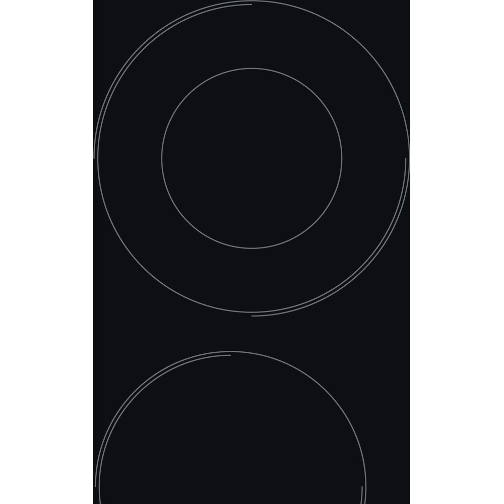 Indesit Печка RI 261 X Черен Radiant vitroceramic Heating element