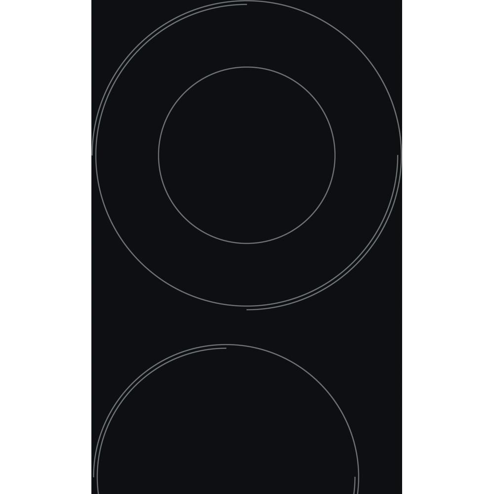 Indesit Ploča za kuhanje RI 261 X Crna Radiant vitroceramic Heating element