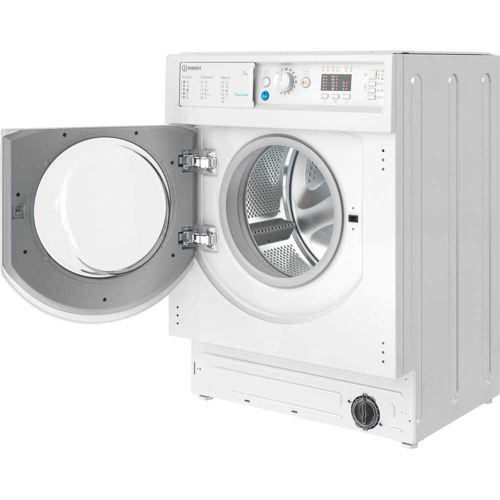 Indesit Перална машина Вграден BI WMIL 71252 EU N Бял Предно зареждане E Perspective open