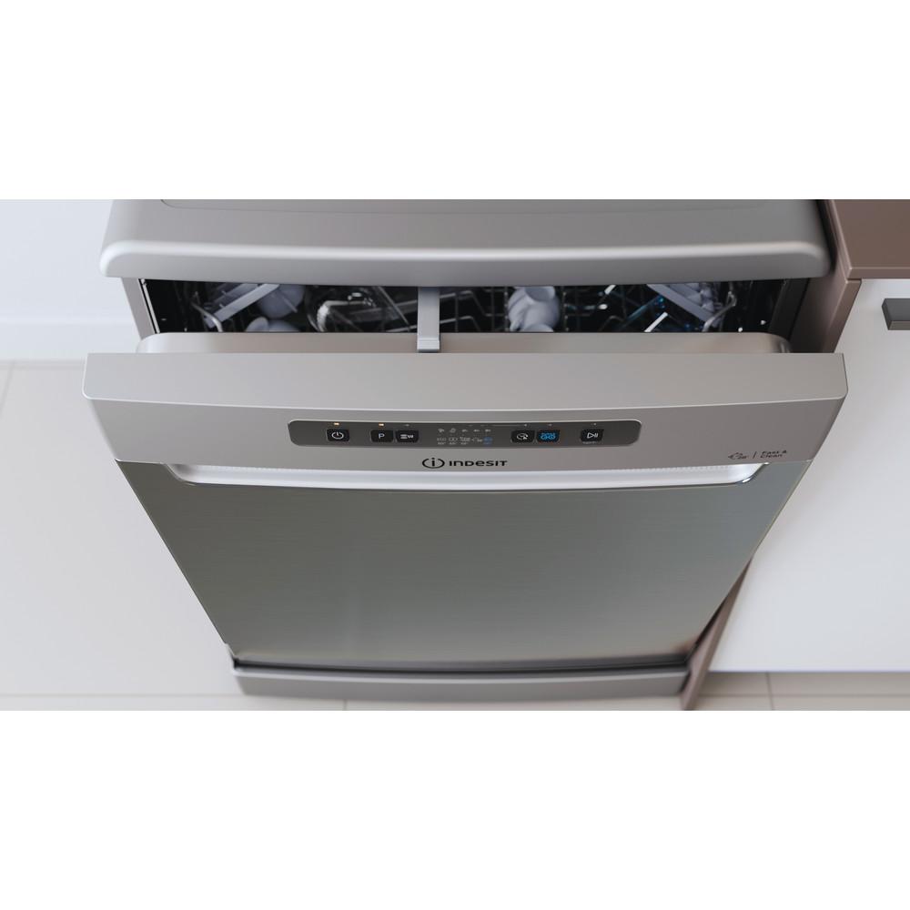 Indesit Vaatwasser Vrijstaand DFC 2C24 A X Vrijstaand E Lifestyle control panel