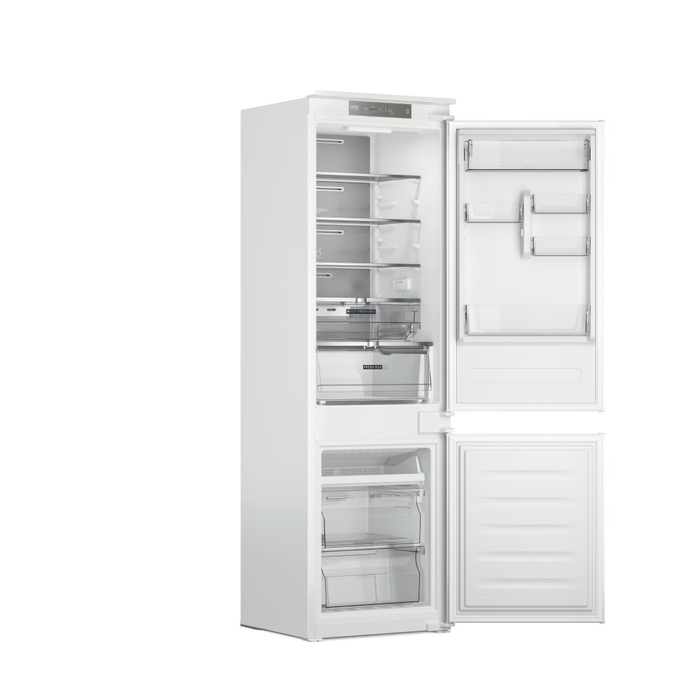Whirlpool Kombinacija hladnjaka/zamrzivača Ugradni WHC18 T341 Bijela 2 doors Perspective open