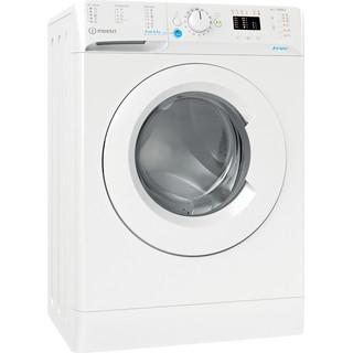 Indesit Veļas mazgājamā mašīna Brīvi stāvošs BWSA 61051 W EU N Balts Priekšējās ielādes F Perspective