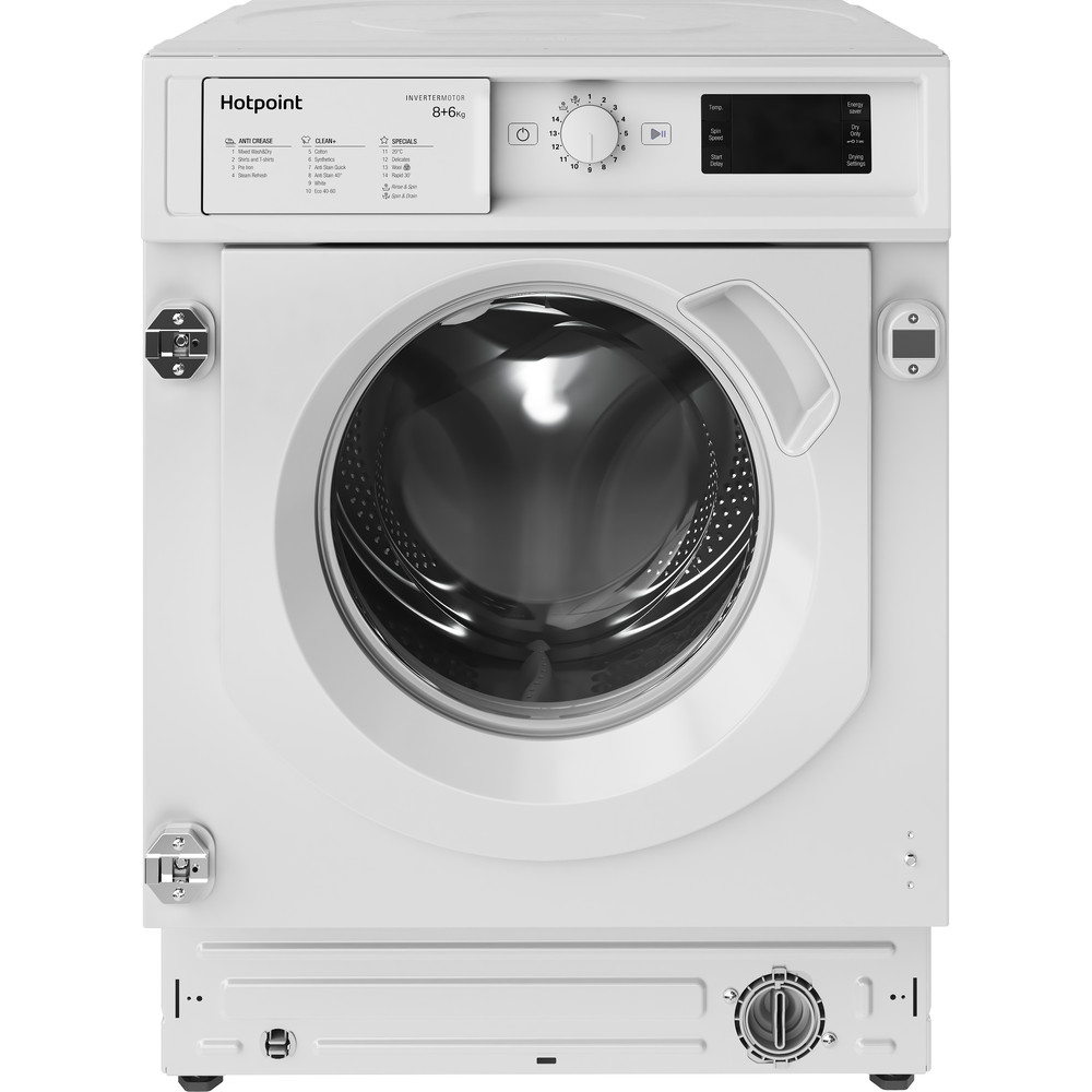 Hotpoint Washer dryer Built-in BI WDHG 861484 UK White Front loader Frontal