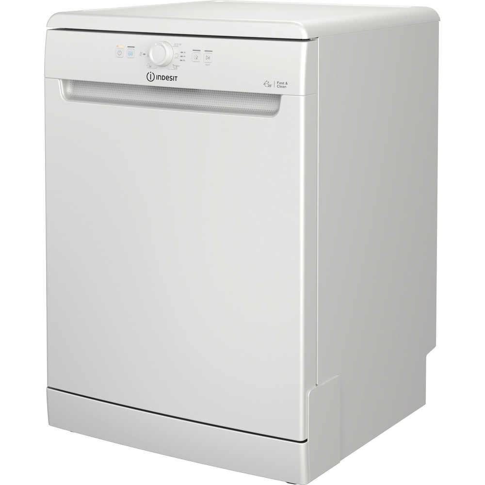 Indesit Dishwasher Free-standing DFE 1B19 UK Free-standing F Perspective