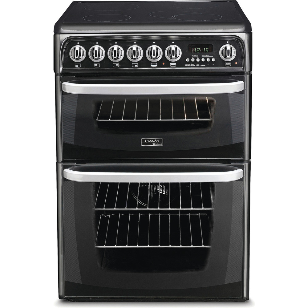 Hotpoint Double Cooker CH60EKK S Black B Vitroceramic Frontal