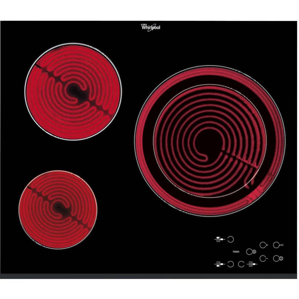 Placa vitrocoerámica Whirlpool AKT 807/BF con 3 zonas de cocción