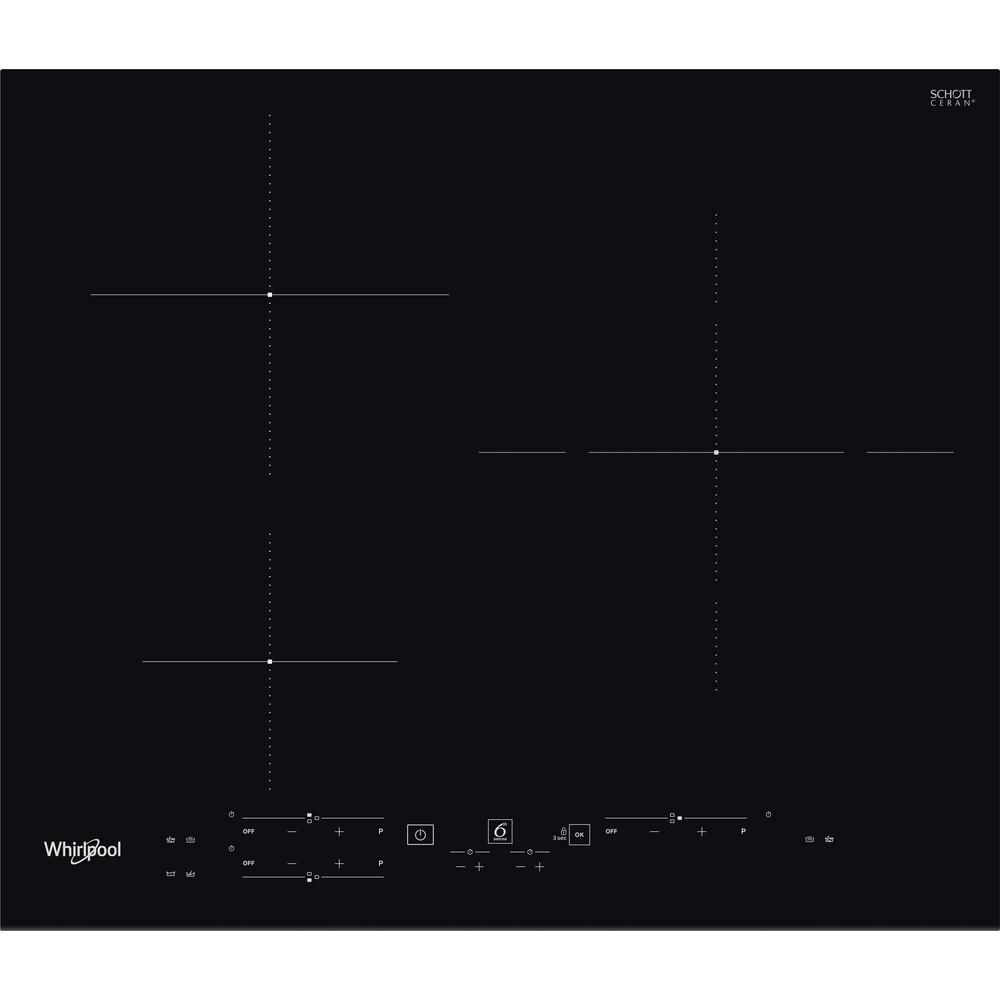 Placa de inducción Whirlpool - WS B2360 BF - 3 Zonas - Mando Control Touch Independiente