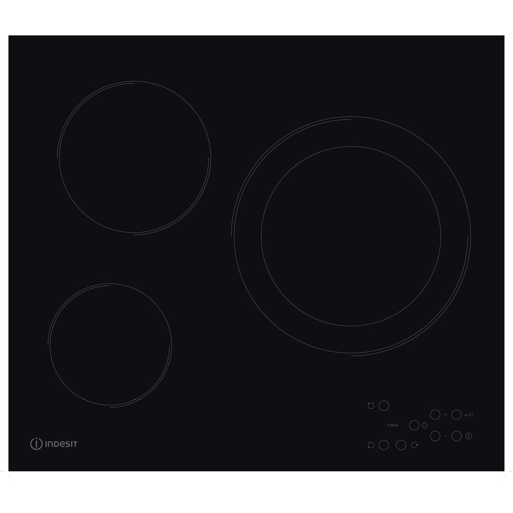 Indesit Encimera RI 360 C (ES) Negro Radiant vitroceramic Frontal