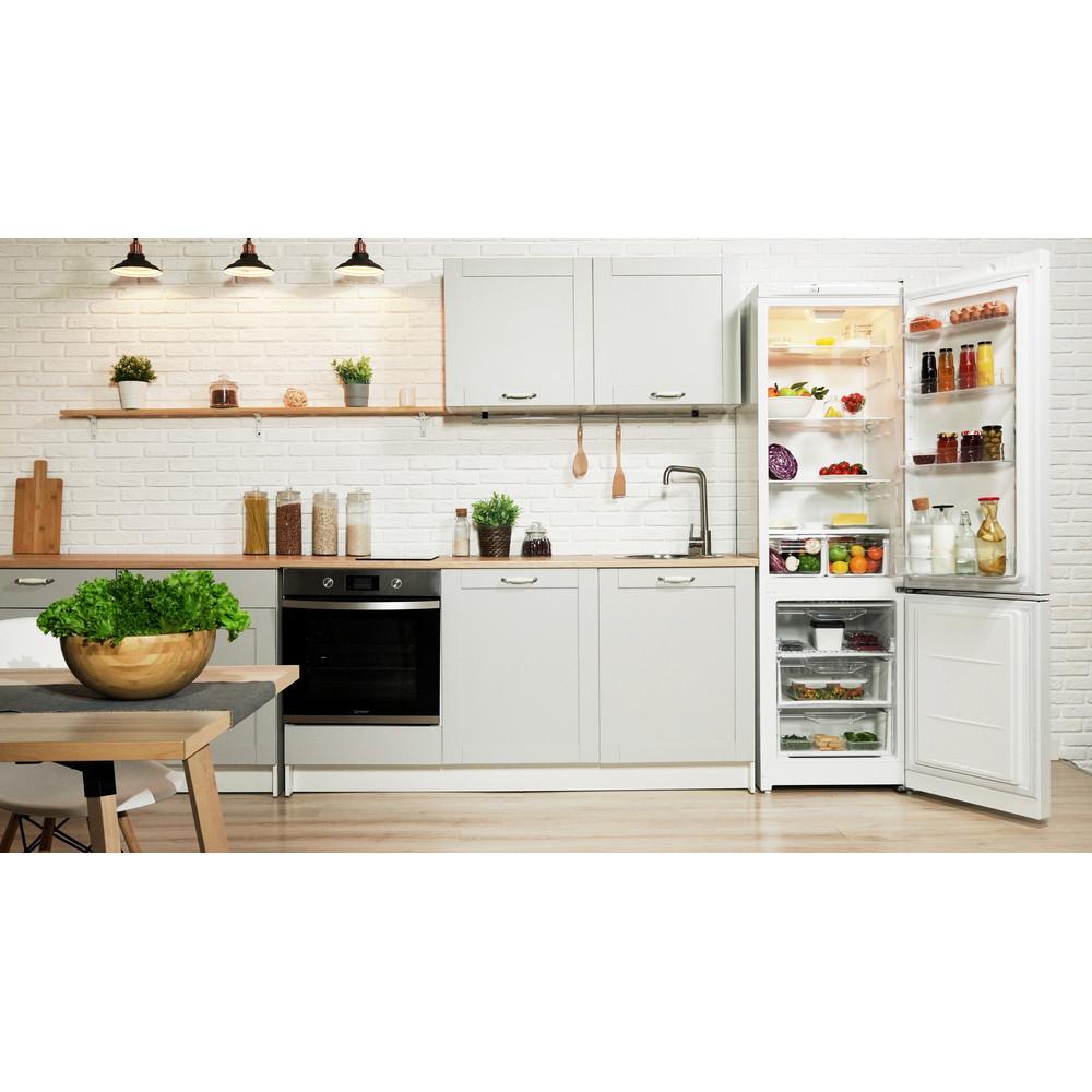 Indesit Холодильник с морозильной камерой Отдельностоящий DSN 20 Белый 2 doors Lifestyle frontal open