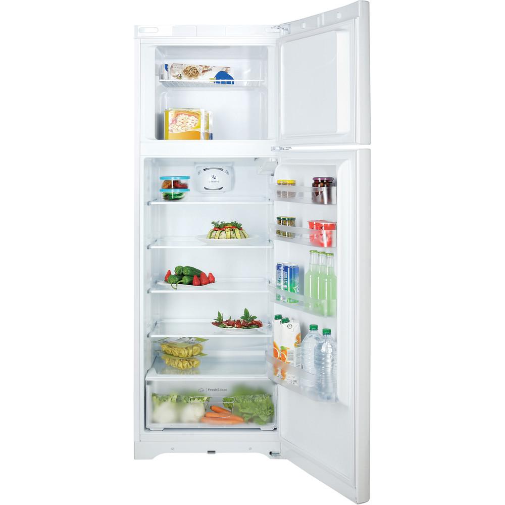 Indesit Combiné réfrigérateur congélateur Pose-libre TIAA 12 V 1 Blanc 2 portes Frontal open