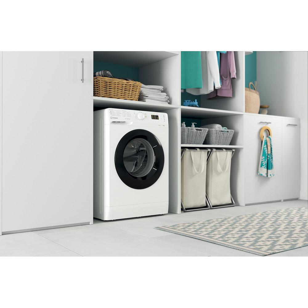 Indsit Maşină de spălat rufe Independent MTWSA 61252 WK EE Alb Încărcare frontală A +++ Lifestyle perspective