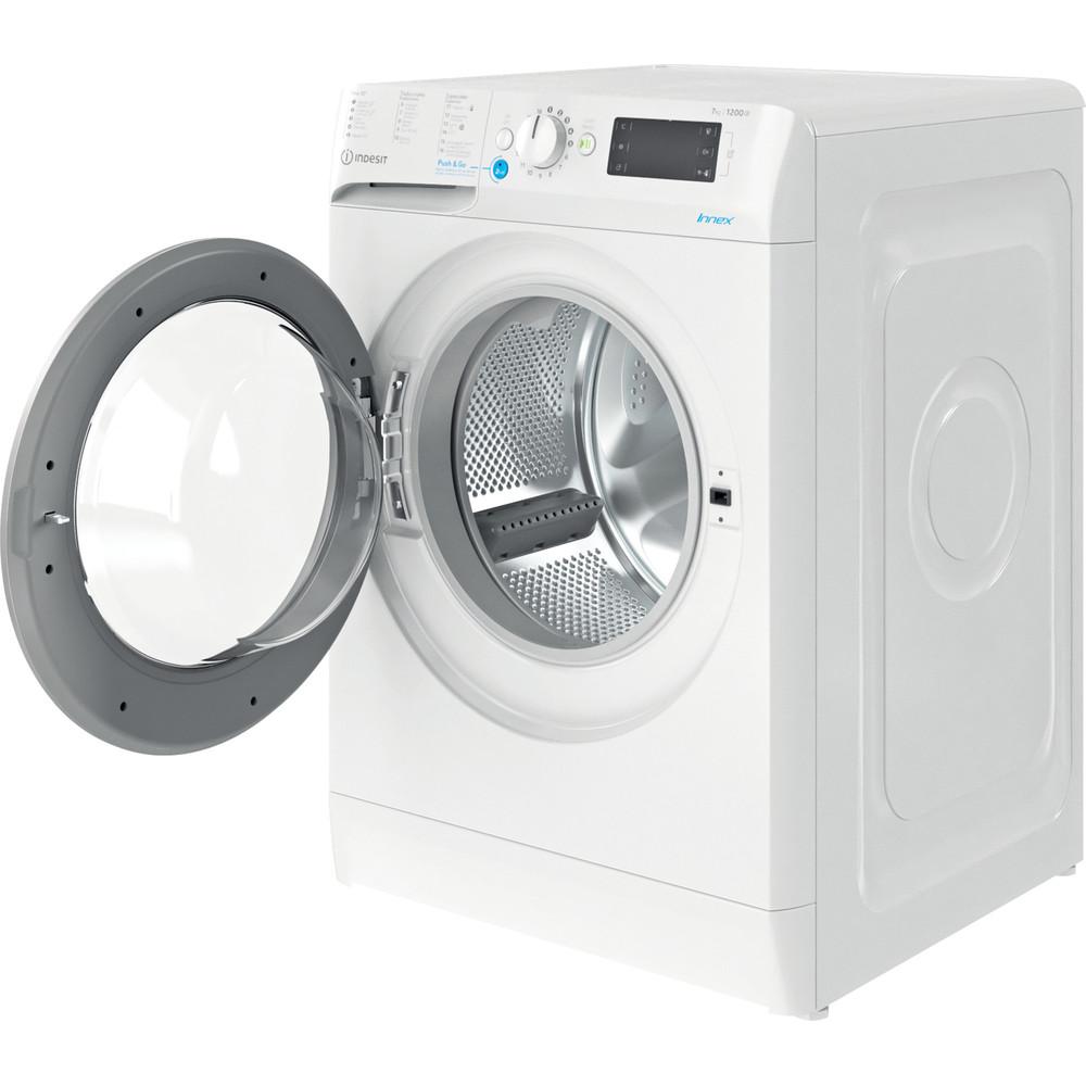 Indesit Máquina de lavar roupa Livre Instalação BWE 71252X WS SPT N Branco Carga Frontal E Perspective open
